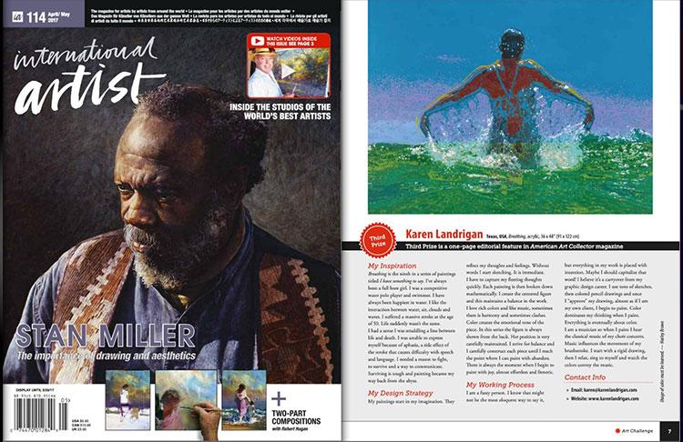 Third Prize Winner for International Artist magazine's Challenge No. 98, People & Figures
